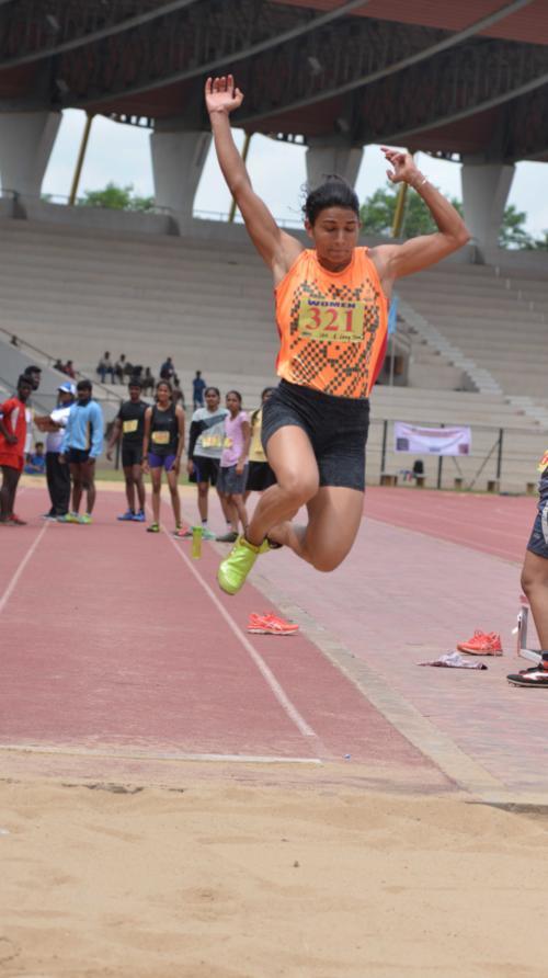 Long Jump Womens 1st Place Sonam (Viqrabad)